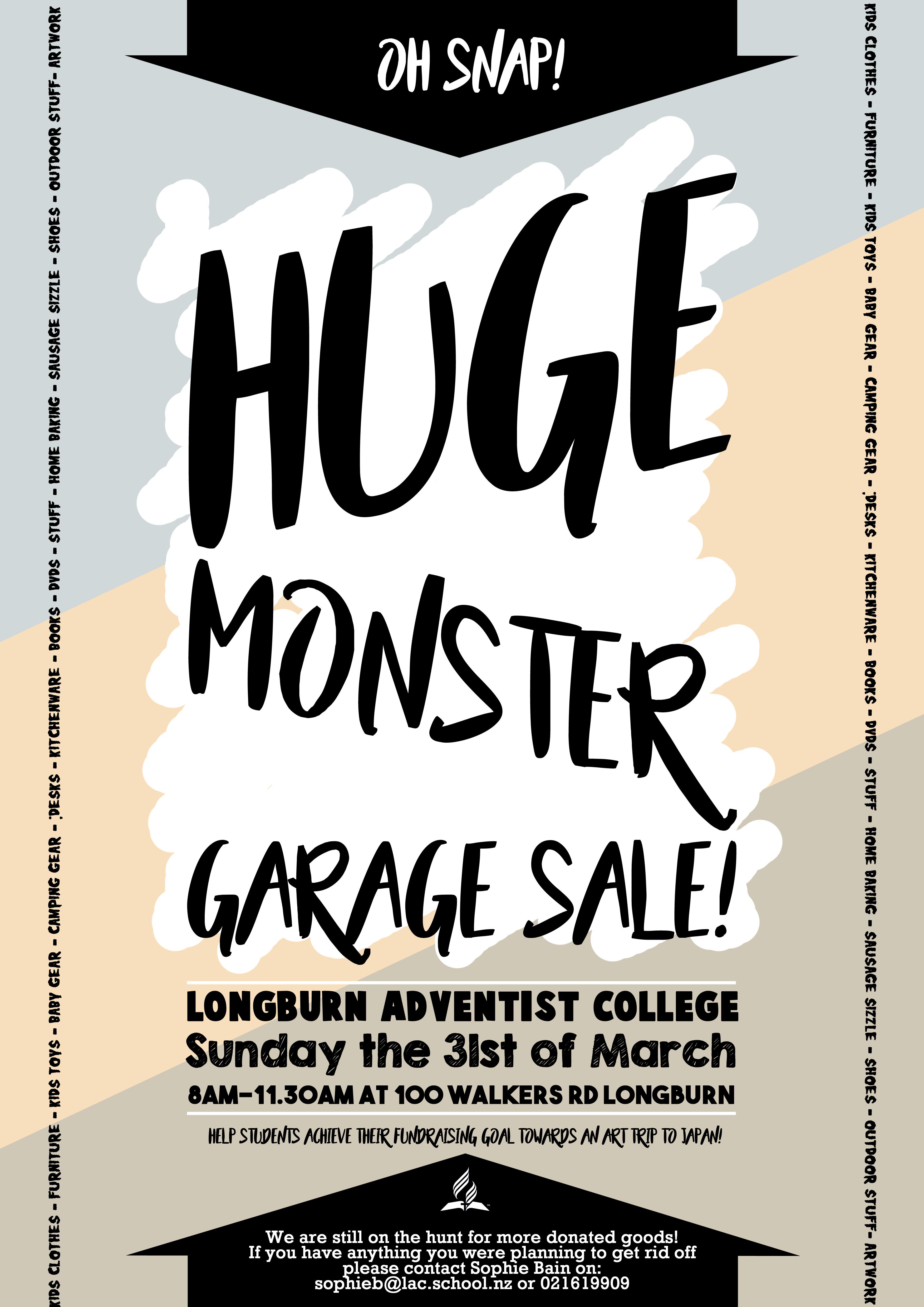 Monster Garage Sale @ LAC | Longburn | Manawatu-Wanganui | New Zealand