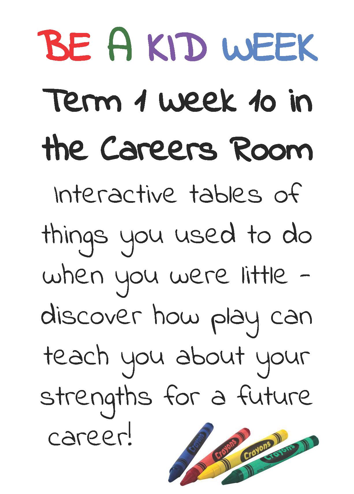 Be A Kid Week