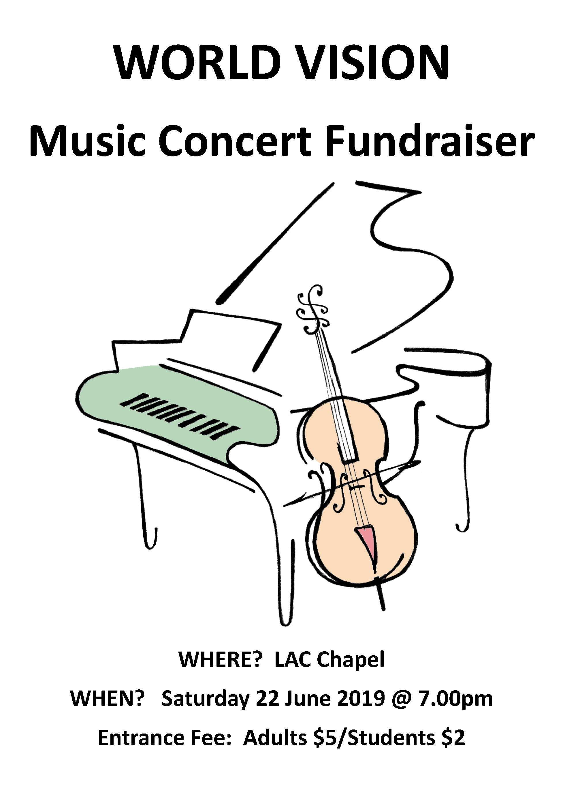 World Vision Fundraising Concert @ LAC Chapel